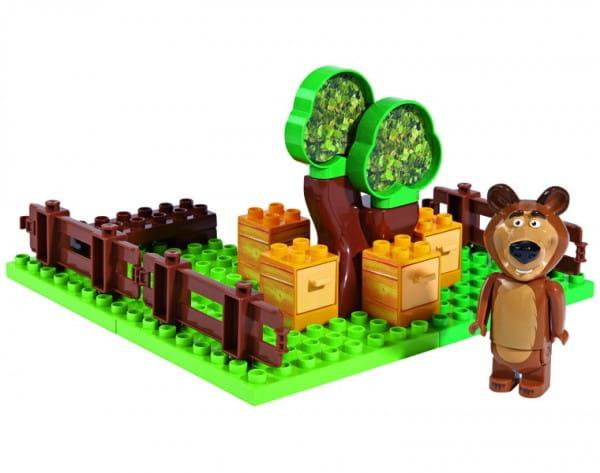 Конструктор Маша и Медведь Пчелиная ферма Мишки - 21 деталь (Big)