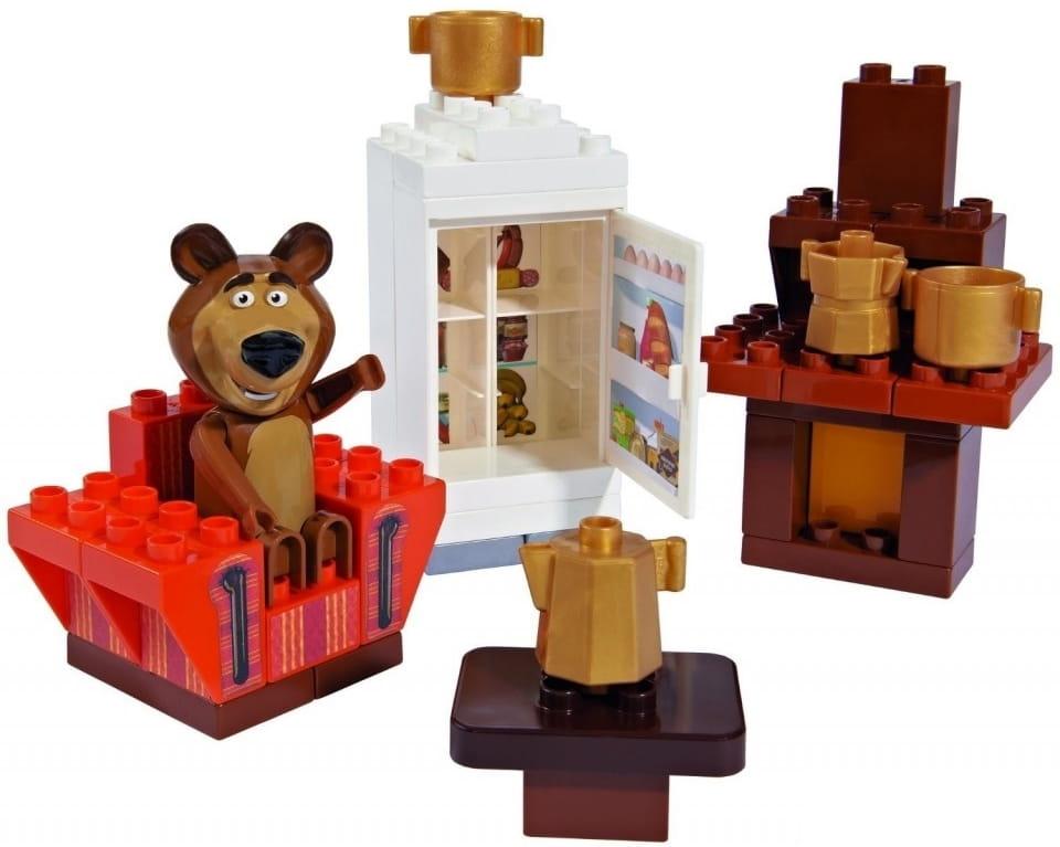 Конструктор Маша и Медведь Кухня Мишки - 35 деталей (Big)