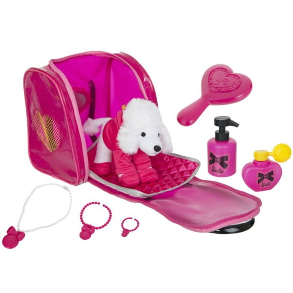 Купить Дорожный набор для ухода за пуделем в сумочке Barbie (HTI) в интернет магазине игрушек и детских товаров