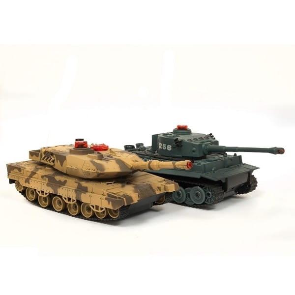 Радиоуправляемый танковый бой Huan QI Tiger и Leopard 1:32