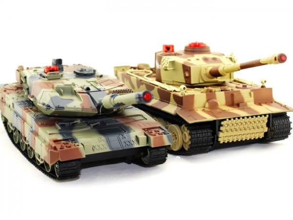 Радиоуправляемый танковый бой Huan QI Abrams 1:24