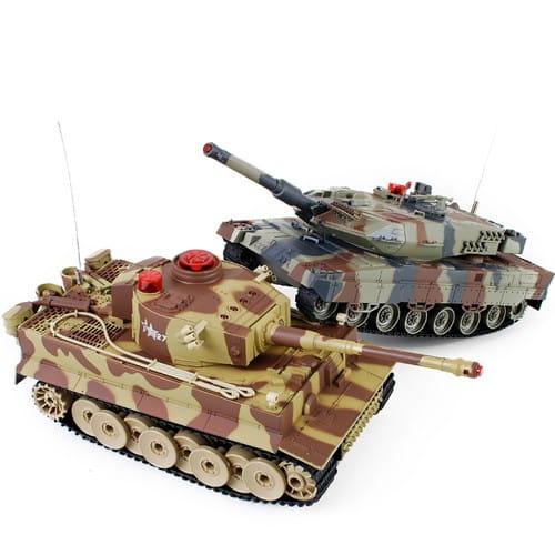Радиоуправляемый танковый бой Huan QI Tiger и Abrams 1:24