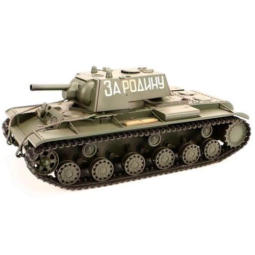 Купить Радиоуправляемый советский танк VSTank KV1 Infrared Green 1:24 в интернет магазине игрушек и детских товаров
