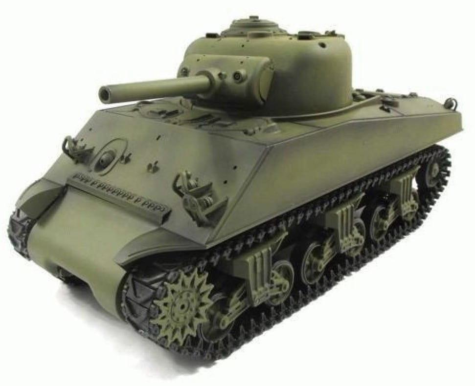 Радиоуправляемый танк Heng Long 3898-1 Ginzzu M4A3 Sherman с дымом 1:16