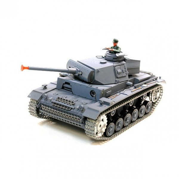 Радиоуправляемый танк Heng Long 3848-1 pro Panzerkampfwagen III с дымом Pro 1:16