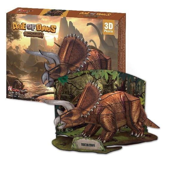 Объемный 3D пазл CubicFun P669h Эра динозавров - Трицератопс