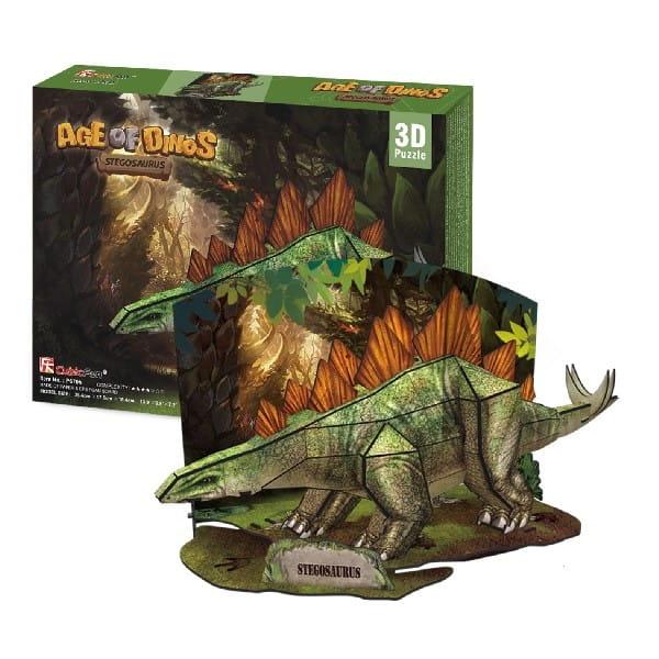 Объемный 3D пазл CubicFun P670h Эра динозавров - Стегозавр