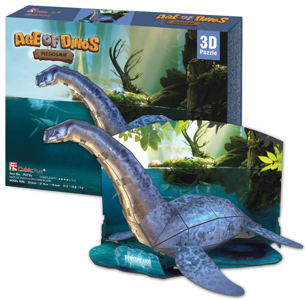 Объемный 3D пазл CubicFun P671h Эра динозавров - Плезиозавр