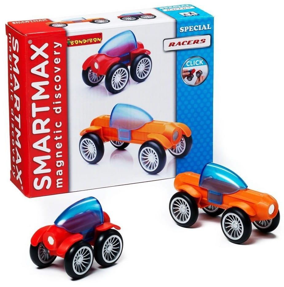 Магнитный конструктор Bondibon SmartMax BB0877 Специальный набор - Гонщики