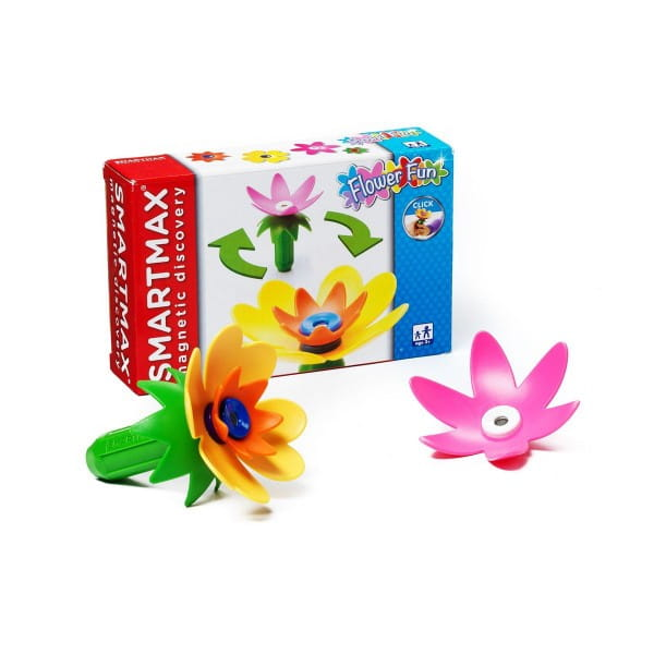 Магнитный конструктор Bondibon SmartMax BB0899 Специальный набор - Забавные Цветы