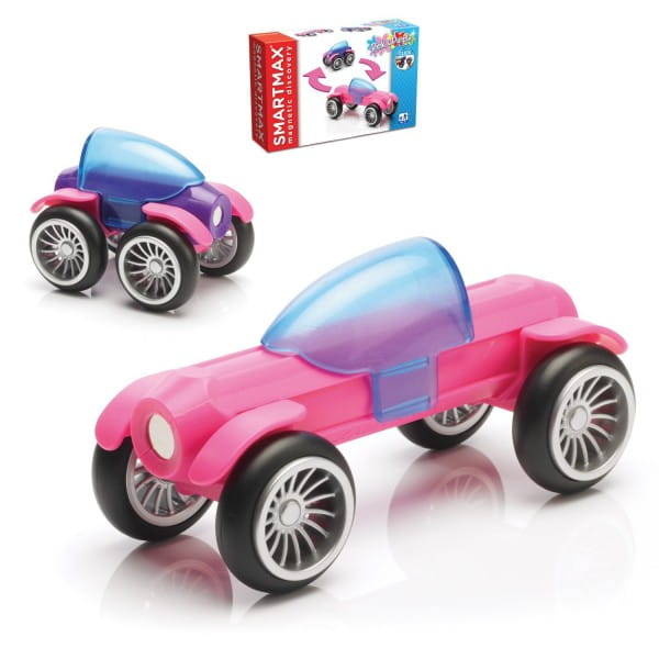 Магнитный конструктор Bondibon SmartMax Специальный набор - Розовый и Фиолетовый