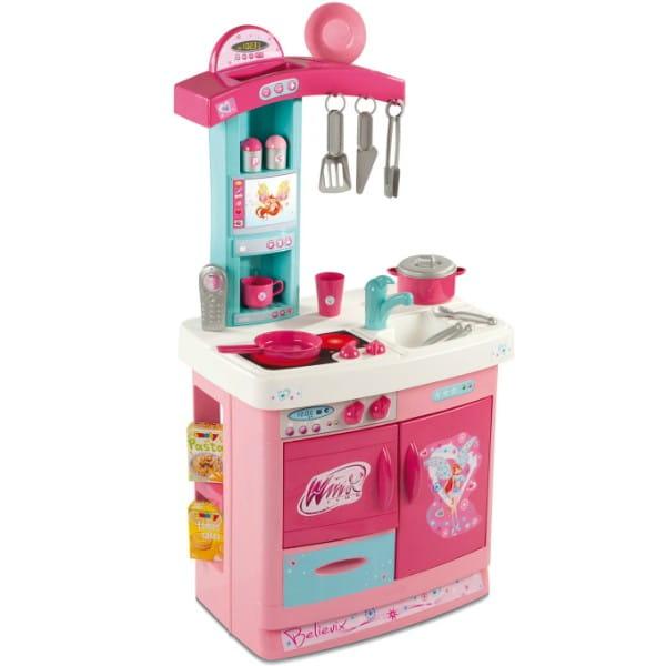 Купить Детская кухня Winx и 16 предметов (Smoby) в интернет магазине игрушек и детских товаров