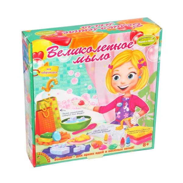 Купить Набор Bondibon Французские опыты Науки с Буки - Великолепное мыло в интернет магазине игрушек и детских товаров