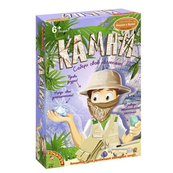 Купить Набор Bondibon Французские опыты Науки с Буки - Камни в интернет магазине игрушек и детских товаров