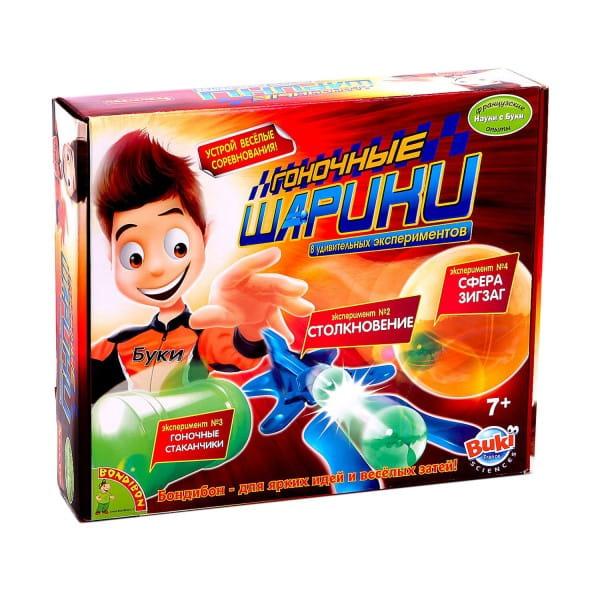 Купить Набор Bondibon Французские опыты Науки с Буки - Гоночные шарики в интернет магазине игрушек и детских товаров