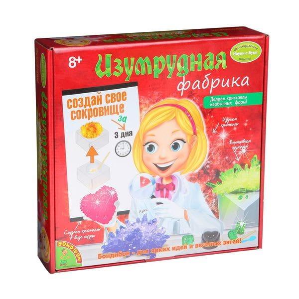 Купить Набор Bondibon Французские опыты Науки с Буки - Изумрудная фабрика в интернет магазине игрушек и детских товаров