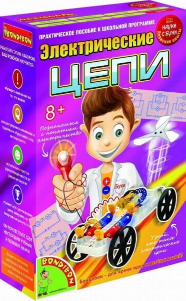 Купить Набор Bondibon Японские опыты Науки с Буки - Электрические цепи в интернет магазине игрушек и детских товаров