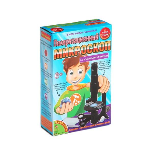 Купить Набор Bondibon Японские опыты Науки с Буки - Поляризационный микроскоп в интернет магазине игрушек и детских товаров