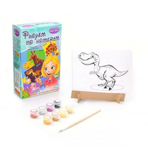 Набор для творчества Bondibon Рисуем по номерам - Динозавр