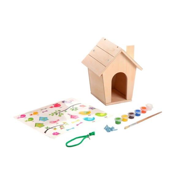 Купить Набор для творчества Bondibon Моделирование из дерева - Скворечник своими руками в интернет магазине игрушек и детских товаров