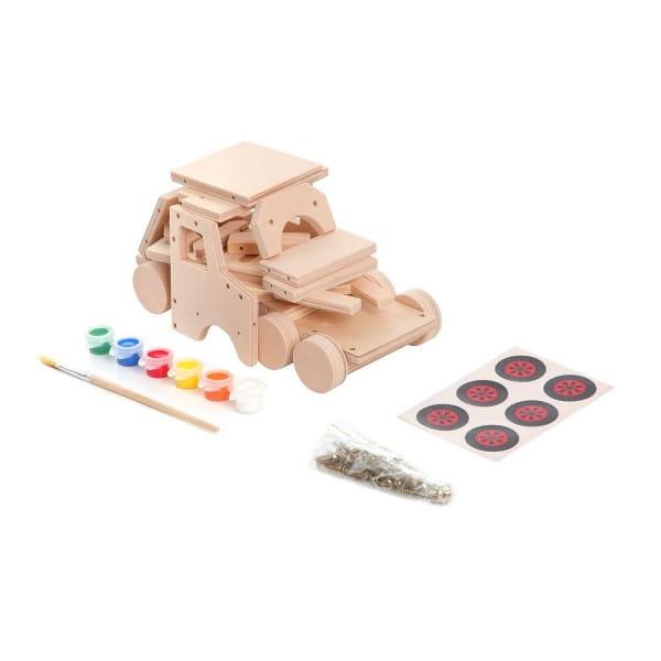 Купить Набор для творчества Bondibon Моделирование из дерева - Грузовик своими руками в интернет магазине игрушек и детских товаров