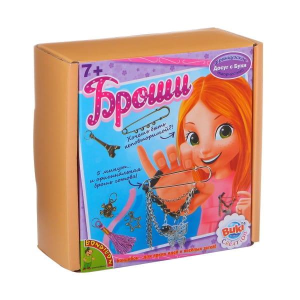 Купить Набор Bondibon Французское творчество Досуг с Буки - Броши в интернет магазине игрушек и детских товаров