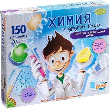 Купить Набор Bondibon Французские опыты Науки с Буки - Химия и другие науки (150 экспериментов) в интернет магазине игрушек и детских товаров