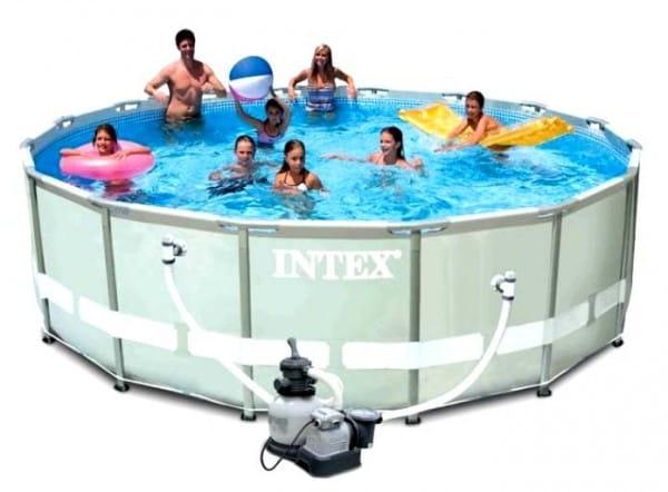 Каркасный бассейн на опорах INTEX Ultra Frame Pool 488х122 см