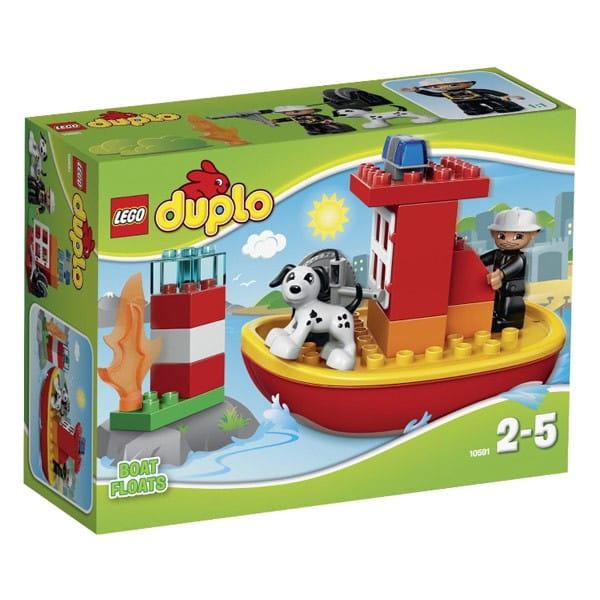 Купить Конструктор Lego Duplo Лего Дупло Пожарный катер в интернет магазине игрушек и детских товаров
