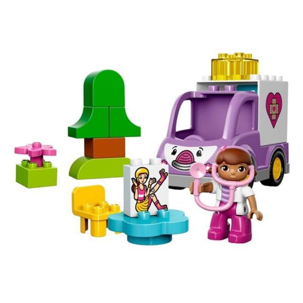 Купить Конструктор Lego Duplo Лего Дупло Скорая помощь Доктора Плюшевой в интернет магазине игрушек и детских товаров