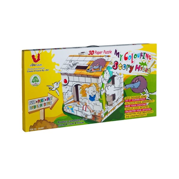 Купить Игровой домик-конструктор картонный U Do Future Сказки в интернет магазине игрушек и детских товаров