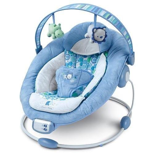 Купить Кресло-качалка с 7-ю мелодиями Bright Starts Комфорт и гармония в интернет магазине игрушек и детских товаров