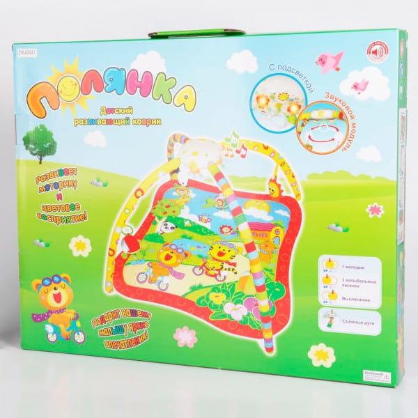 Купить Детский развивающий коврик Zhorya Полянка (с колыбельными песнями и подсветкой) в интернет магазине игрушек и детских товаров