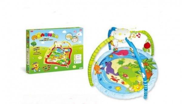 Купить Детский развивающий коврик Zhorya Полянка 2 (с колыбельными песнями и подсветкой) в интернет магазине игрушек и детских товаров