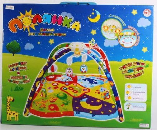 Купить Детский развивающий коврик Zhorya Полянка (со звуковыми и световыми эффектами) в интернет магазине игрушек и детских товаров