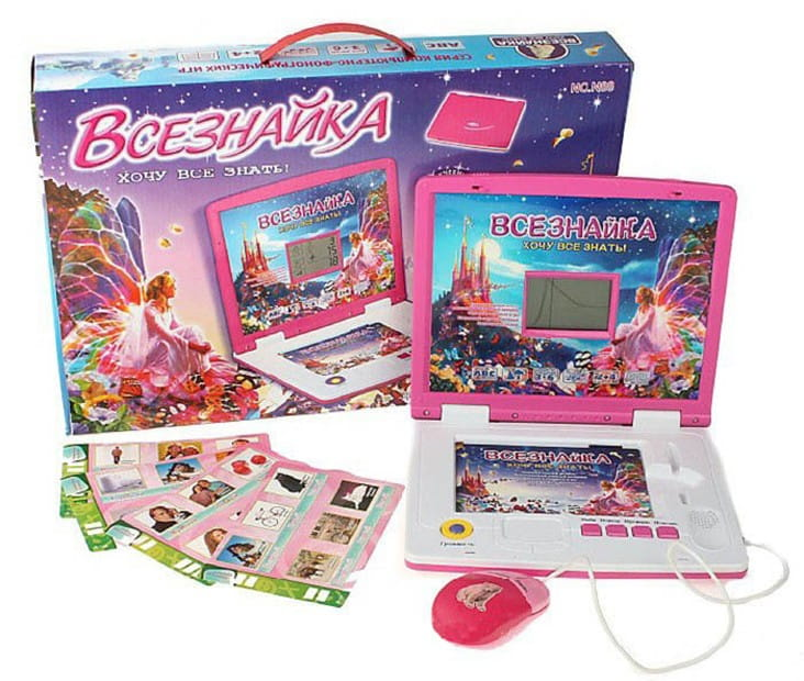 Детский обучающий компьютер Abezkad Б33683 Всезнайка 8091