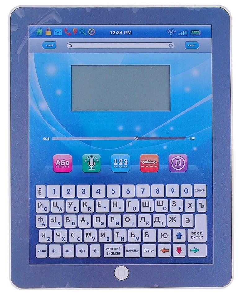 Обучающий планшет PLAY SMART с цветным экраном (русско-английский)