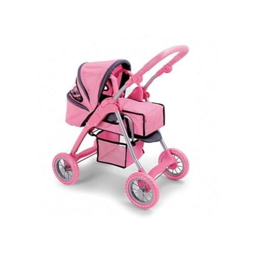 Купить Коляска для кукол Melogo с багажником и ручками для переноски в интернет магазине игрушек и детских товаров
