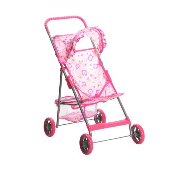 Купить Коляска металлическая Melogo с козырьком и корзинкой - 73 см в интернет магазине игрушек и детских товаров
