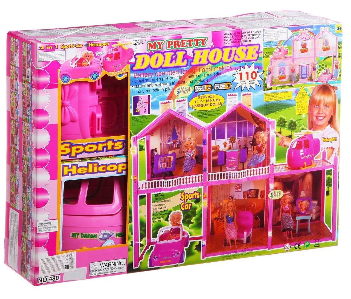 Дом для куклы MY PRETTY - 110 деталей (с машиной)