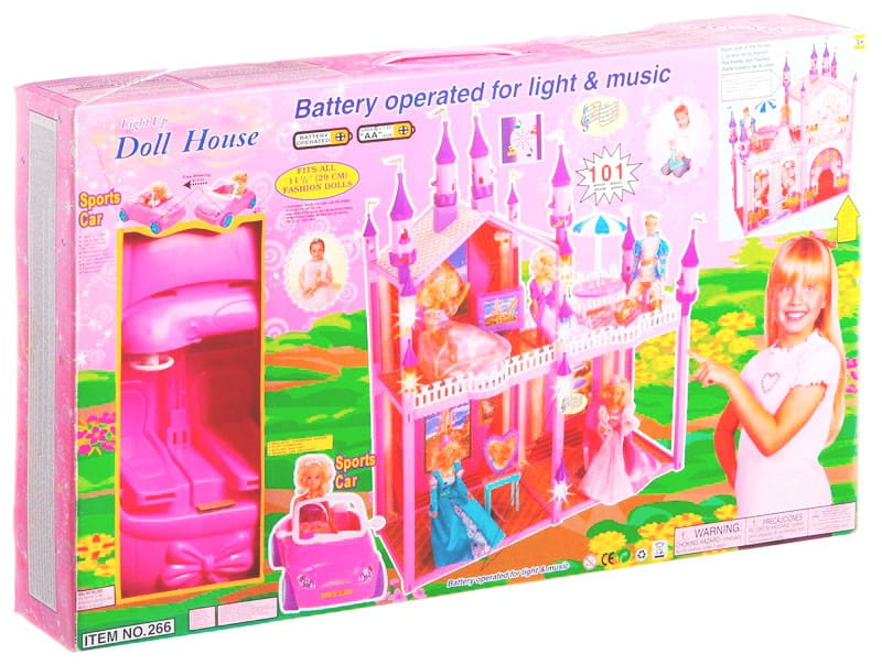 Замок для куклы My pretty Д10724 - 101 деталь (с машиной)
