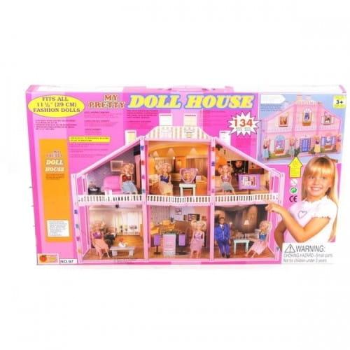 Загородный дом с куклой - 134 детали
