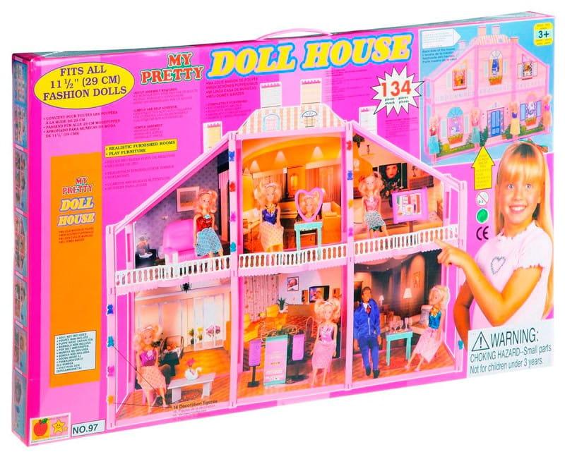 Загородный дом с куклой My pretty Д10725 - 134 детали