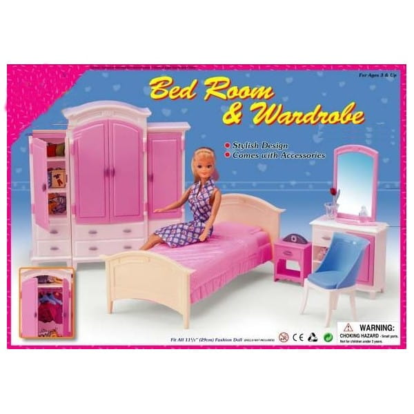 Купить Набор мебели Gloria Спальня в интернет магазине игрушек и детских товаров