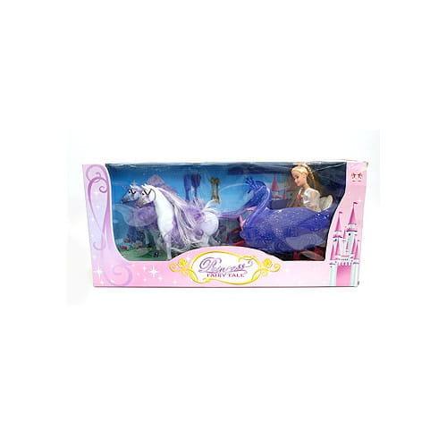Игровой набор Bondibon Карета с лошадьми и кукла