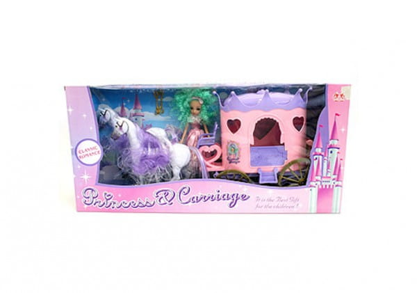Игровой набор Princess n Carriage Д17690 Карета с лошадьми и кукла