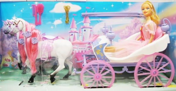 Игровой набор Bondibon Карета с лошадьми и кукла 2