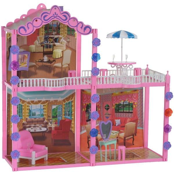 Дом для куклы Bondibon - 104 детали (с мебелью)