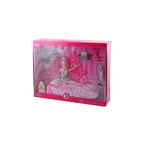 Купить Набор мебели Bondibon Спальня (с куклой) в интернет магазине игрушек и детских товаров