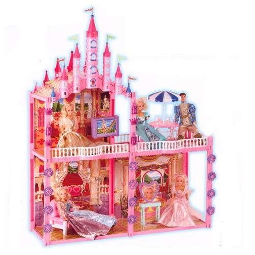Дом Bondibon с куклами и мебелью